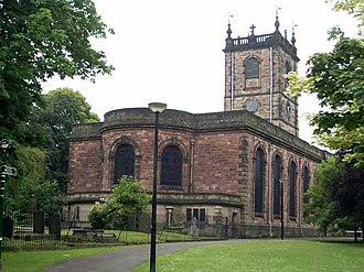 Grade I listed buildings in Staffordshire - Image: St Modwen, Burton upon Trent
