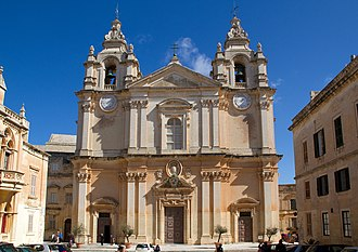 Religion in Malta - St. Paul's Cathedral in Mdina