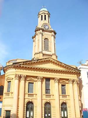 Thomas Allom - St Peter's Notting Hill, designed by Allom in the Italianate style