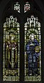 Stained glass window, St George's church, Brede (16227508541).jpg