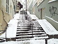 Stair in Montmartre, Paris 20 January 2013.jpg