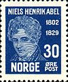Stamps of Norway, 1929-Niels Henrik Abel4.jpg