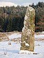 Standing stone in the snow - geograph.org.uk - 1626454.jpg