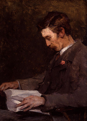 Stanhope Forbes - Portrait of Forbes by his wife, Elizabeth Adèla Forbes (née Armstrong)
