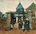 Stanhope Forbes Outside Chapelle Saint-David in Quimperle, Brittany 1882.jpg