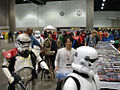 Star Wars Celebration IV - The 501st legion guards the Obi-Wan bust I won as sculptor Lawrence Noble returns it to the booth (4878296123).jpg