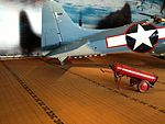 Static Display USS Lexington SBD-2 Dauntless tailhook.JPG