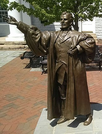 Peter Muhlenberg - Peter Muhlenberg statue in front of the Shenandoah County Courthouse in Woodstock, Virginia