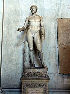 Statue of a male in the Vatican museum, SUPHAX NUMIDIAEREX.JPG