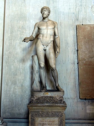 "Syphax - Statue of a male in the Vatican museum, called ""Syphax, King of Numidia""."