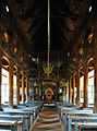 Stave church Lom, nave.jpg
