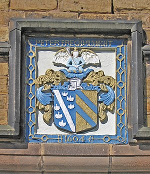 Staveley, Derbyshire - Staveley Hall – Frecheville coat of arms