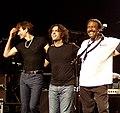 Steve Vai, Dweezil Zappa és Napoleon Murphy Brock Budapesten, 2006.jpg
