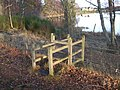 Stile between Aboyne golf course and the north shore of the loch - geograph.org.uk - 619370.jpg