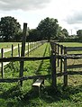 Stile on (well delineated) footpath - geograph.org.uk - 242985.jpg