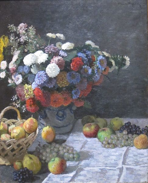 File:Still Life with Flowers and Fruit by Claude Monet, 1869, Getty Center.JPG