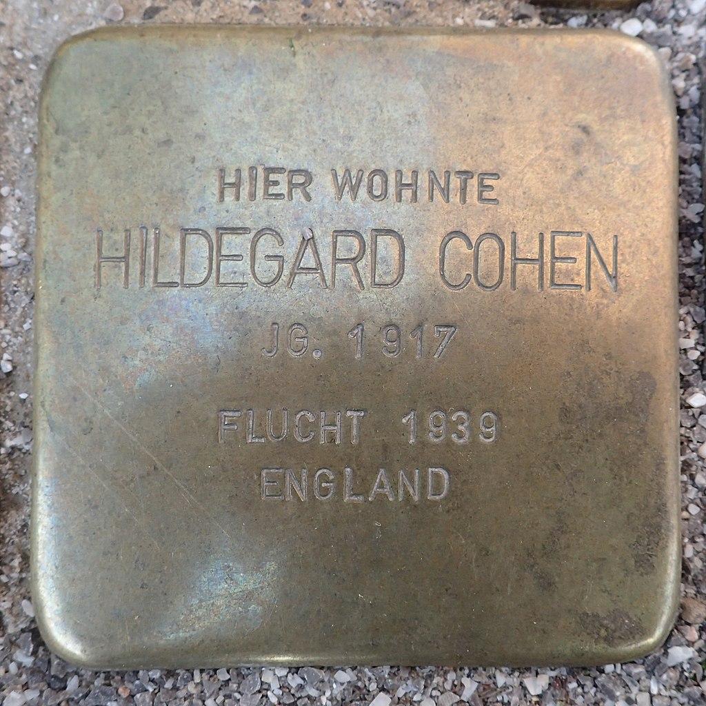 Stolperstein für Hildegard Cohen