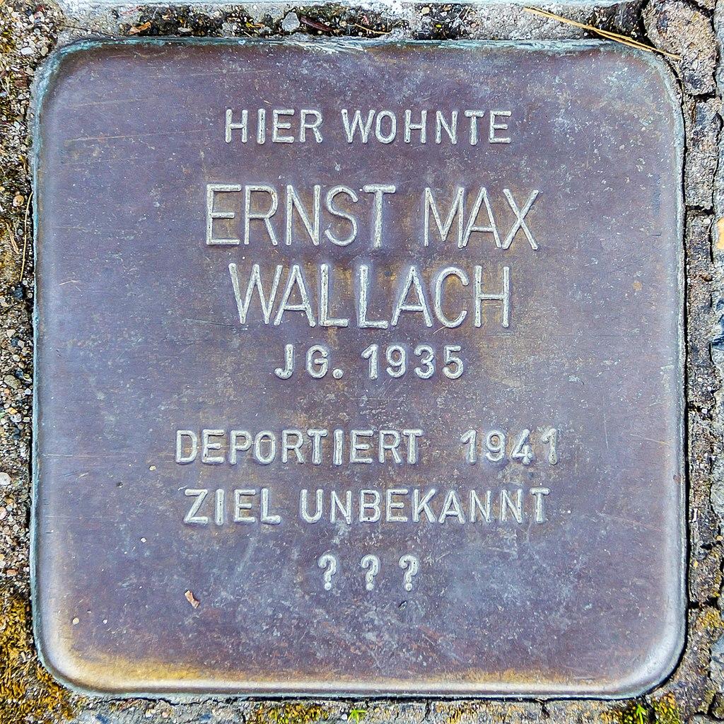 Stolperstein Ernst Max Wallach