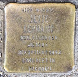 Photo of Jette Lehmann brass plaque