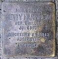 Stolperstein Livländische Str 28 (Wilmd) Betty Mannheim.jpg