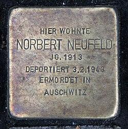 Photo of Norbert Neufeld brass plaque