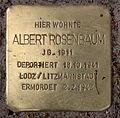 Stolperstein Pariser Str 13 (Wilmd) Albert Rosenbaum.jpg