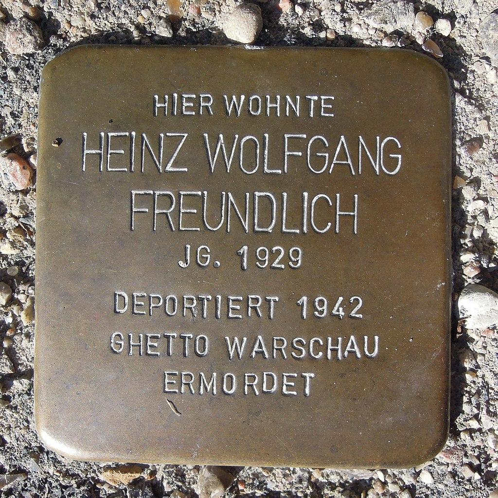 Stolperstein für Heinz Wolfgang Freundlich