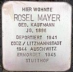 Stolperstein für Rosel Mayer (Bruchstraße 31)