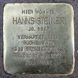 Photo of Hanns Steiner brass plaque