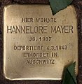 Stolperstein Westfälische Str 70 (Halsee) Hannelore Mayer.jpg
