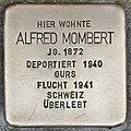 Stolperstein für Alfred Mombert (Heidelberg).jpg