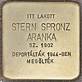 Stolperstein für Aranka Stern Spronz (Budapest).jpg