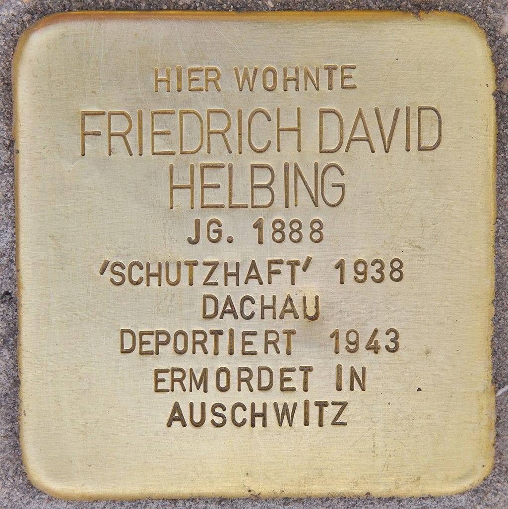 Stolperstein für Friedrich David Helbing (München).jpg