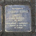 Stolperstein für Johanna Sophie Wollf, Franz-Liszt-Straße Ecke Wiener Strasse, Dresden.JPG