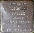 Stumbling block for Siegmund Waller (Im Dau 12)