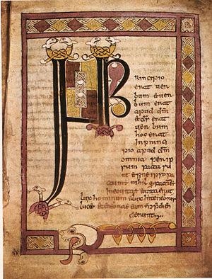 Stowe Missal - Stowe Missal folio 1r initial page