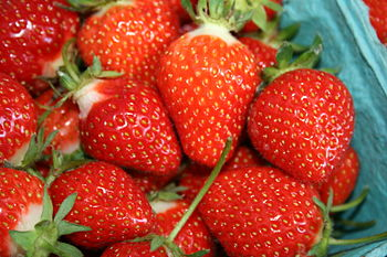 Strawberries picked
