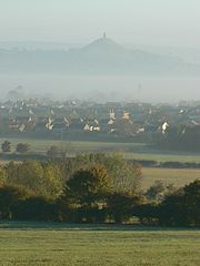 Street and Glastonbury Tor