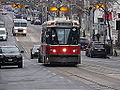 Streetcars on the Queen Street bridge over the Don River, 2014 12 03 (10) (15917897336).jpg