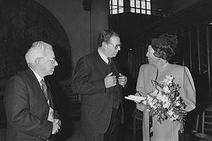 Henk Wesseling - Leendert Strengholt, Henk Wesseling and Queen Beatrix (1987)