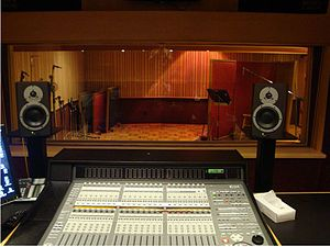 Fantasy Studios - Present-day view from control room to live room of Studio B