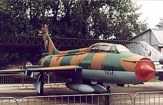 Sukhoi Su-7 - A two-seat trainer variant Su-7UMK (NATO designation: Moujik)