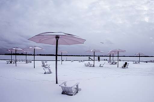 Sugar Beach in the snow