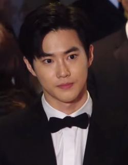 Suho at 24th Busan Internation Film Festival red carpet on October 3, 2019.png