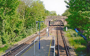 Sunnymeads railway station - Platform view