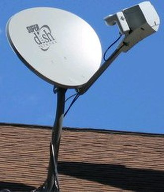 Dish Network - SuperDish 121 mounted on a roof