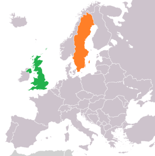 Diplomatic relations between the Kingdom of Sweden and the United Kingdom of Great Britain and Northern Ireland