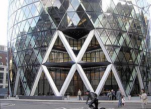 Diagrid - Base of 30 St Mary Axe, London, UK