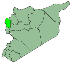 Map of Syria with Lataquia highlighted.
