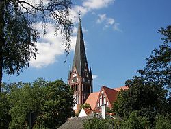 Church in the town
